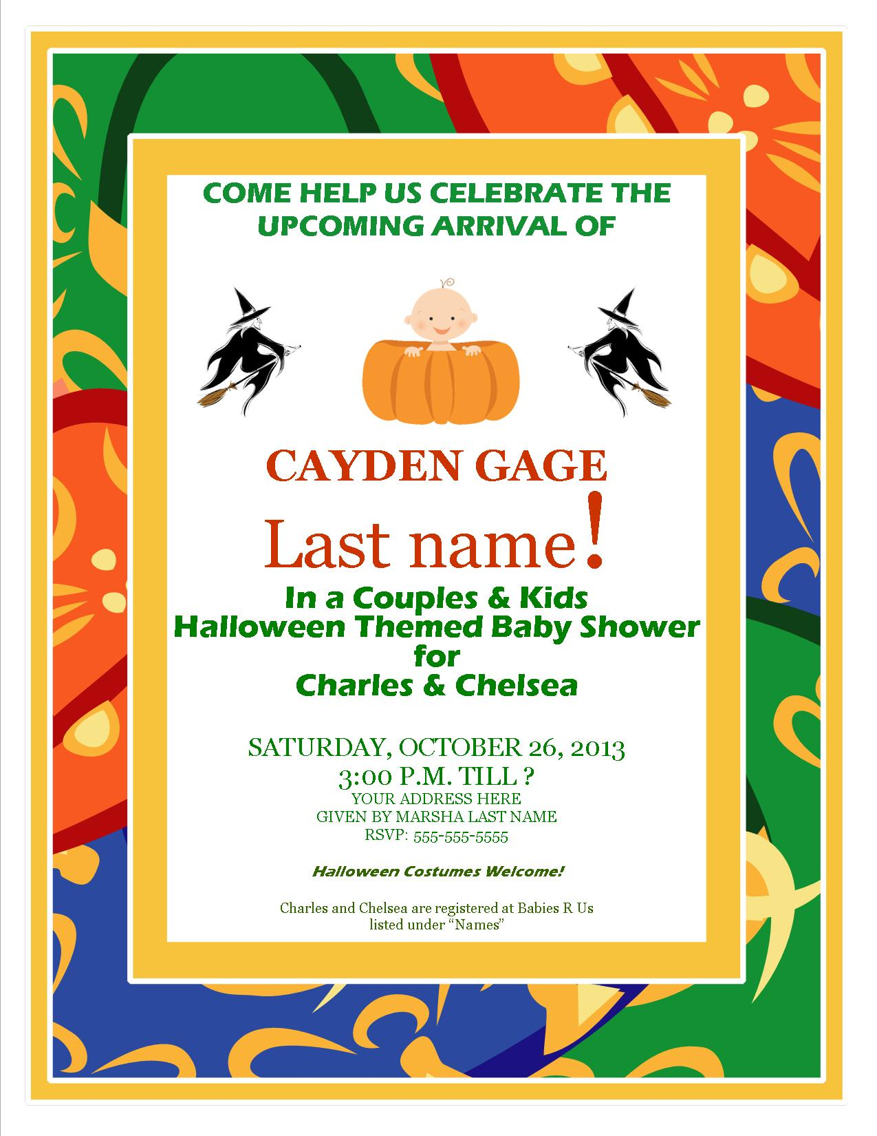 halloween themed baby shower invitations halloween ba shower 9