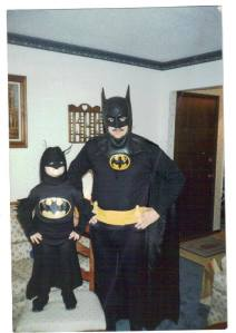 Darrell and Charles 1989 in Batman costumes