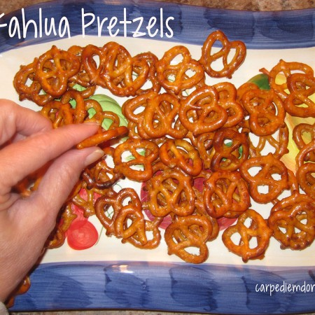 Digging into the Kahlua Pretzels