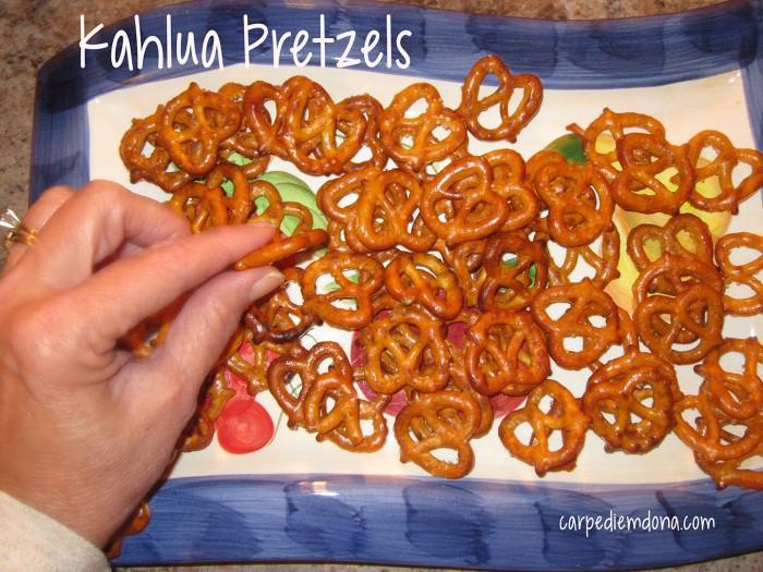 Diggin into the Kahlua Pretzels