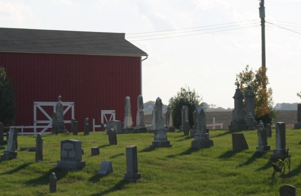 Red Barn and Cemetery