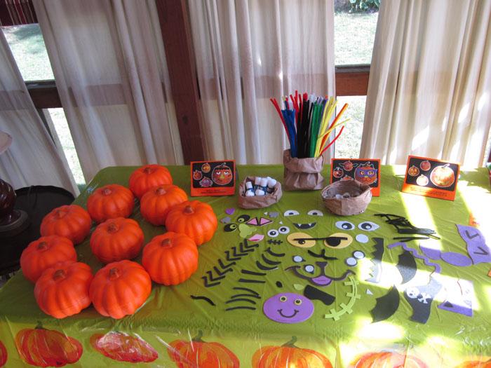 Pumpkin Decorating Station