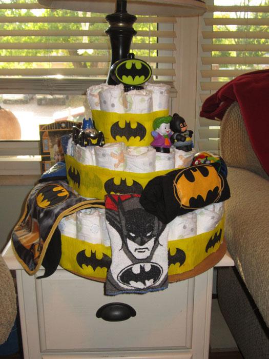 Batman Diaper Cake