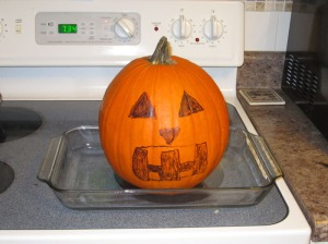 Pumpkin on the stove