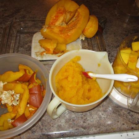 Steps in Pureeing the pumpkin