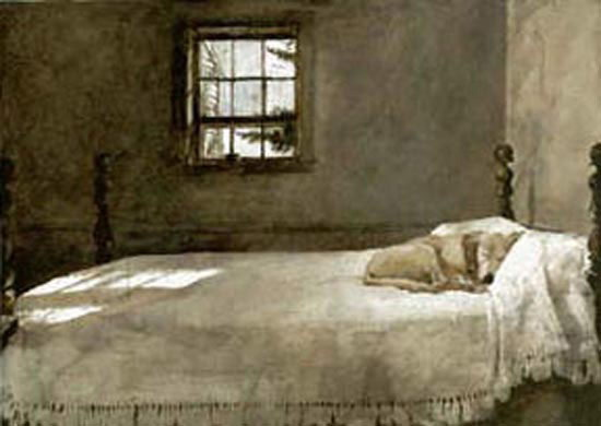 Andrew Wyeth's Dog on a Bed