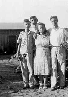 Dad, Leroy, Grandma, and Johnie