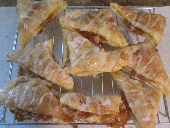 Icing drizzled over Baklava