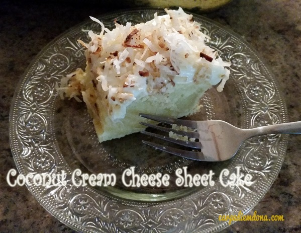 Coconut Cream Cheese Sheet Cake