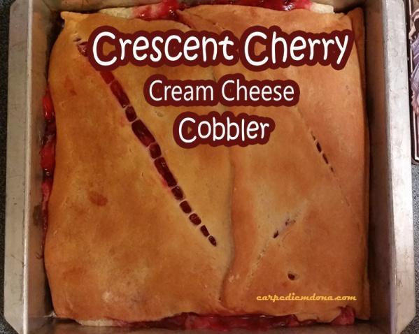 Crescent Cherry Cream Cheese Cobbler