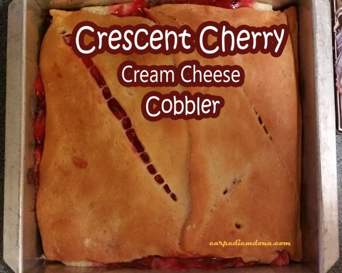 Crescent Cherry Cream Cheese Cobbler