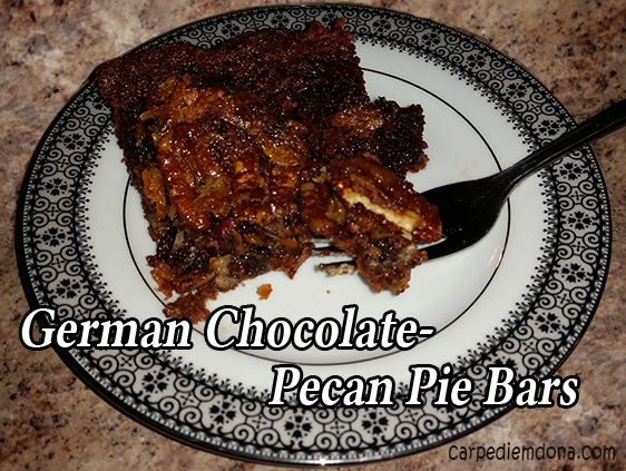 German Chocolate Pecan Pie Bars