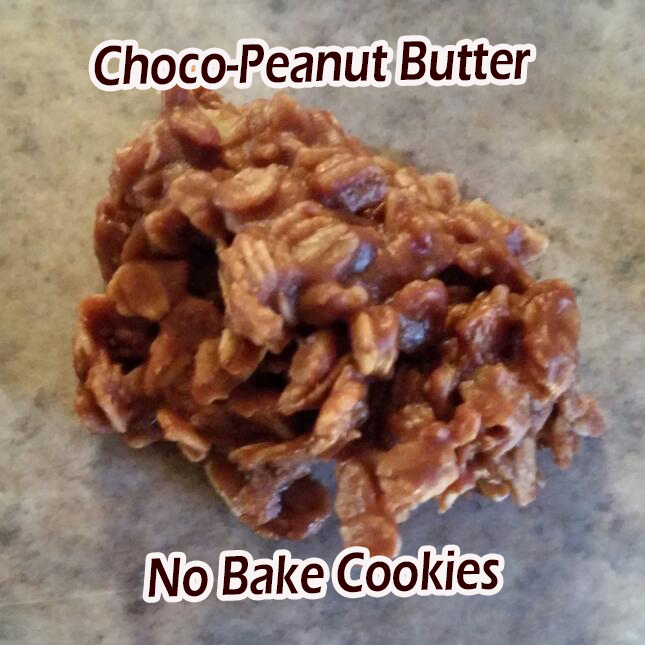 Choco-Peanut Butter No Bake Cookies