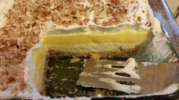 Cut into the Luscious Lemon Delight