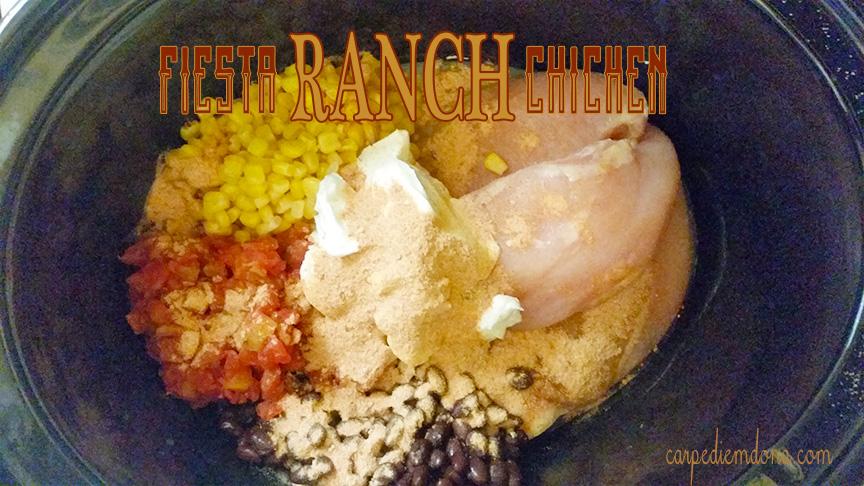 Crock Pot Fiesta Ranch Chicken
