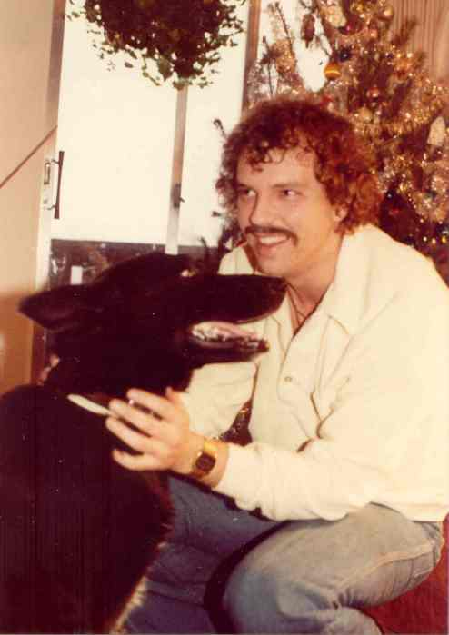 Darrell Shoults and his dog Sentry