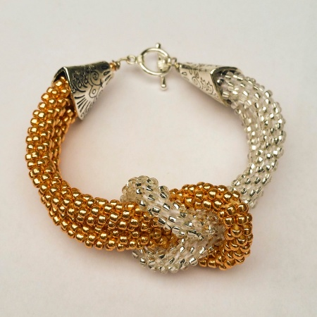 Kumihimo Beaded Love Knot Bracelet
