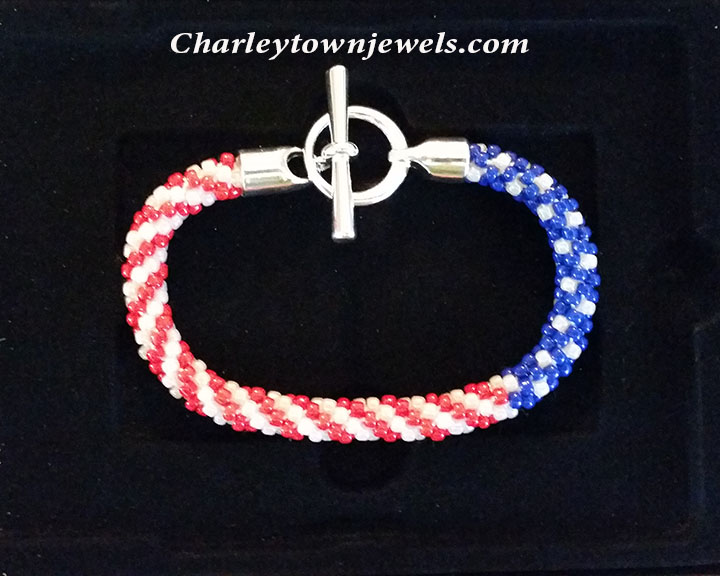 charleytown jewels star spangled kumihimo bracelet