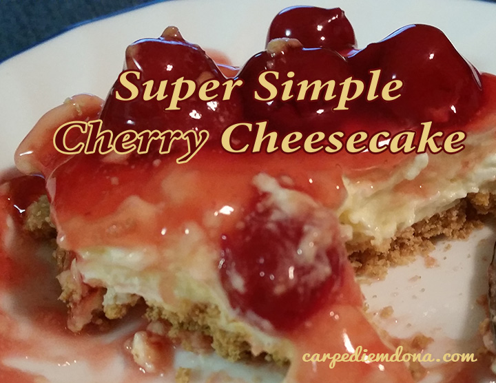 super simple cherry cheesecake