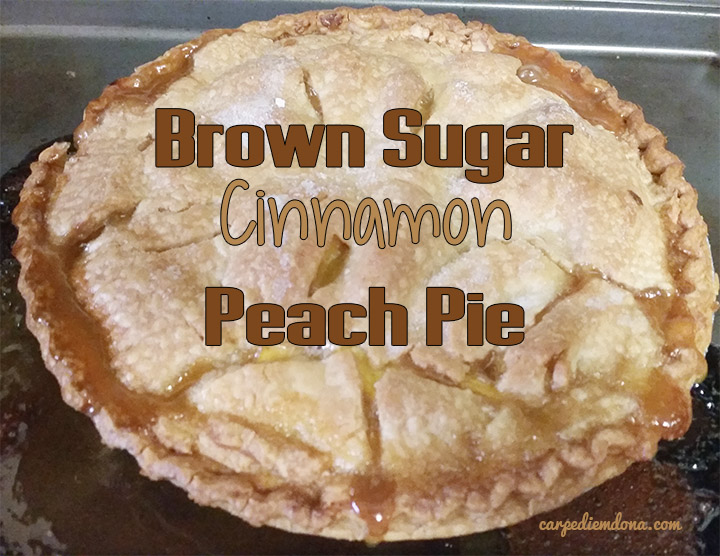 brown sugar cinnamon peach pie