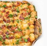 Cheesy Tater Tot Breakfast Bake