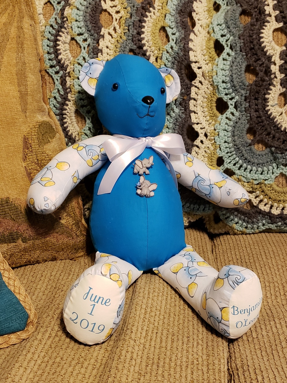 Memory Bear in Blue