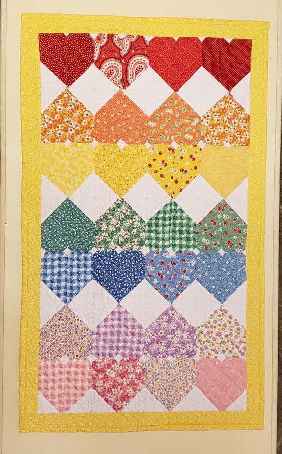 Zigzag Heart Mini Quilt