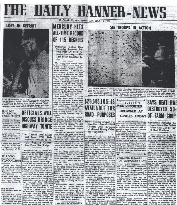 july 14 1954 banner news